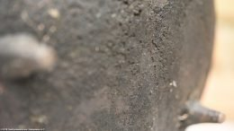 Carbon Buildup Over Gatemark On Bean Pot Bottom