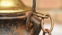 Chain Handle Attached To Rusty Cape Codder