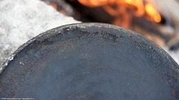 Closeup: Bottom Griswold Erie 8 Skillet 704B