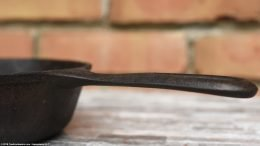 Closeup Of Handle Base, Unrestored Wagner Ware Sidney O Skillet 5, Number 1055