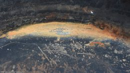 Closeup Rust Spot Unrestored Erie Skillet Size 10