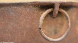 Closeup Rusty Ring On Wagner Sidney O Scotch Bowl Size 5