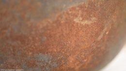 Closeup Rusty Side Of Wagner Sidney O Scotch Bowl Size 5