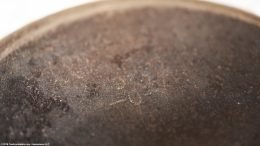 Closeup On A Wagner Ware Sidney O Mark, Size 6 Skillet