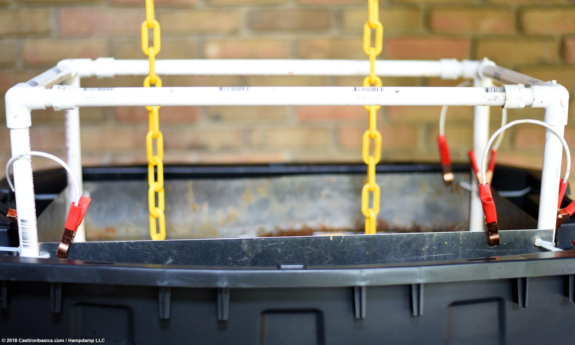 Rust Removal: Electrolysis Tank