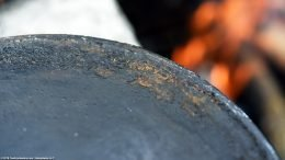 Grease Buildup On An Erie 8 704B, Showing Bottom Heat Ring