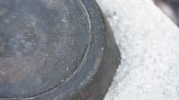 Notch Heat Ring Visible On Unrestored Lodge Size 5 Skillet