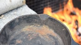 Rusted Cooking Surface Unrestored Smart Skillet Size 8