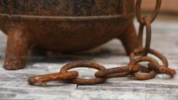 Rusty Chain On Unrestored Cape Cod Fire Starter