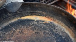 Rusty Cooking Surface On An Unrestored Erie Skillet Size 10