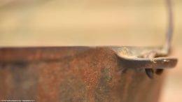 Rusty Unrestored Handle On Wagner Sidney O Scotch Bowl Size 5
