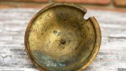 Underside Of Brass Lid On A Cap Cod Fire Starter, Unrestored