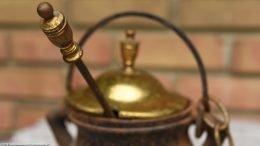 Unpolished Brass Top & Pumice Stone Wand