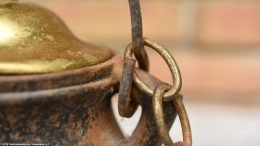 Unrestored Attached Handle & Chain On A Cape Codder