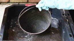 Unrestored Gate Mark Bean Pot Bail Handle In Lye Bath