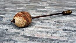 Unrestored Pumice Stone Showing Iron Nut On Firestarter Wand